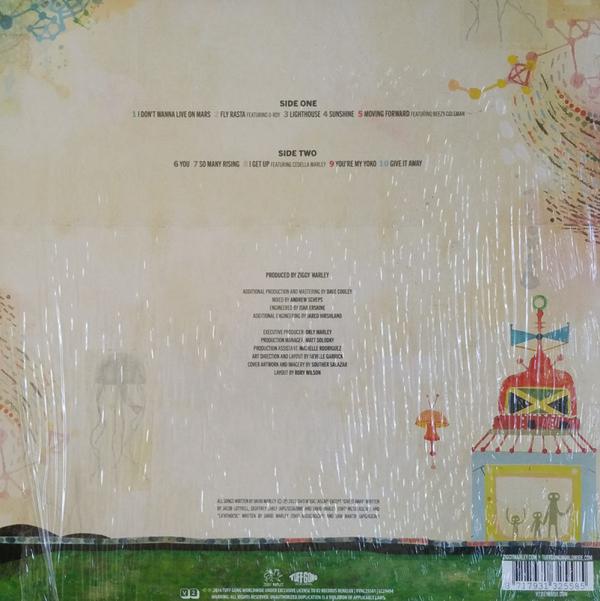 Ziggy Marley - Fly Rasta (Coloured LP + CD) (Back)