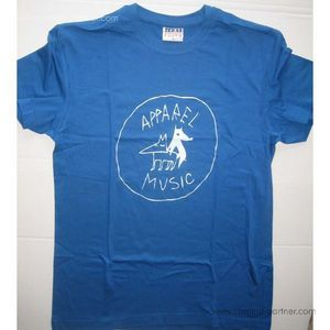apparel t-shirt - clear blue, size l