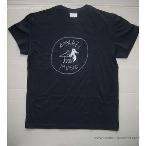 apparel t-shirt - dark blue, size l