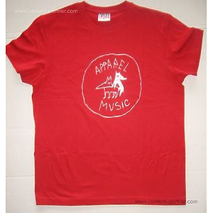 apparel t-shirt - red, size l