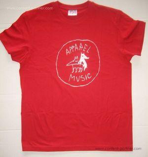 apparel t-shirt - red, size xl