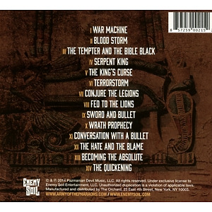 army of the pharaohs - heavy lies the crown (Back)