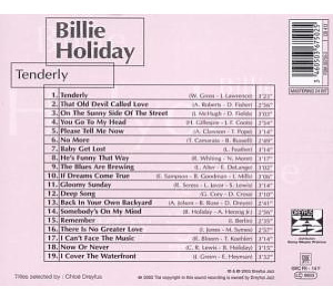 billie holiday - tenderly-jazz reference (Back)