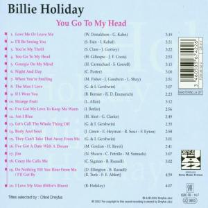 billie holiday - you go to my head (Back)