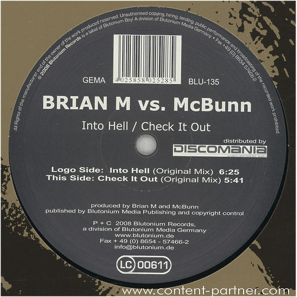 brian m vs mc bunn - into hell / check it out