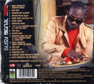 busy signal - reggae music again (Back)