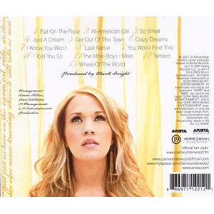 carrie underwood - carnival ride (Back)