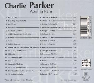 charlie parker - april in paris-jazz reference (Back)