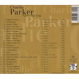 charlie parker - now's the time-jazz reference (Back)