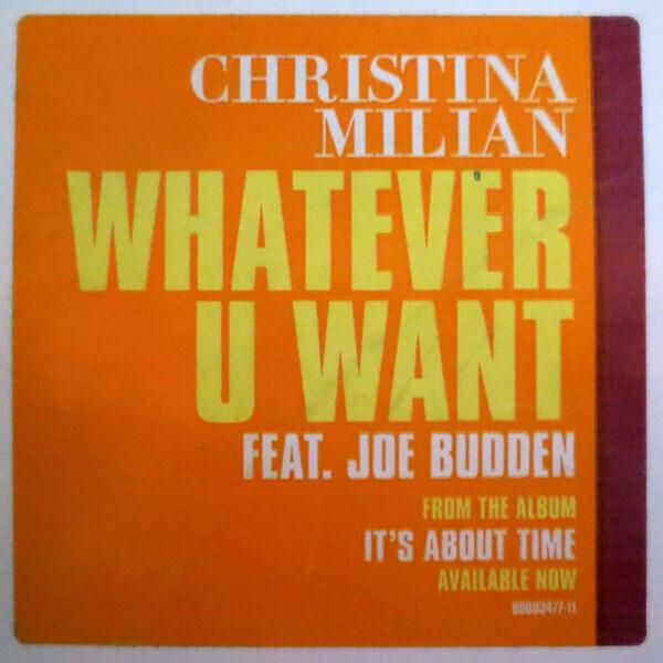 christina milian feat. joe budden - whatever u want (Back)