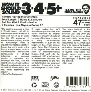 damu the fudgemunk - how it should sound vol.3,4,5+hiss abyss (Back)