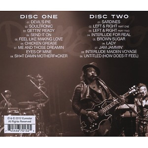 d'angelo - live in oslo (Back)