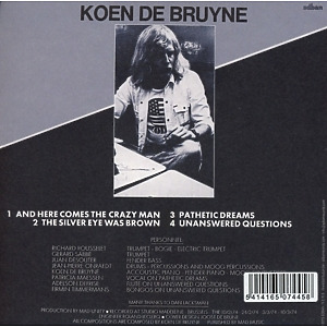 de bruyne,koen - here comes the crazy man! (+bonus cd) (Back)