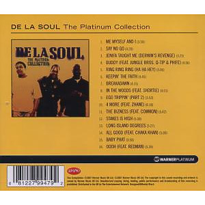 de la soul - the platinum collection (Back)