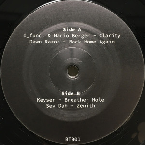 d_func. & Mario Berger, Dawn Razor, Keyser, Sev Da - BT001 (VINYL ONLY) (Back)