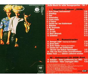 """die Ärzte - devil  (""""debil"""" re-release) (Back)"""