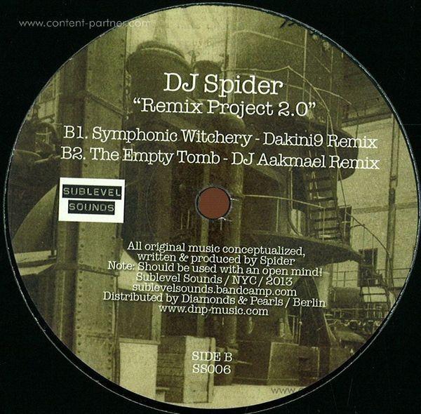 dj spider - remix project 2.0 (Back)