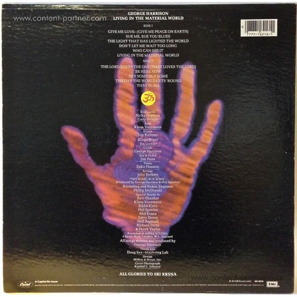george harrison - living in the material world (Back)