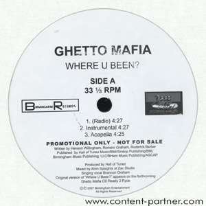 ghetto mafia - where you been/pr