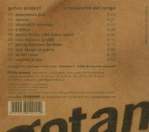 gotan project - la revancha del tango cd (Back)