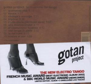 gotan project - la revancha del tango live cd (Back)