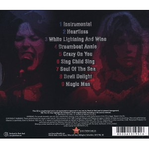 heart - live on air (Back)