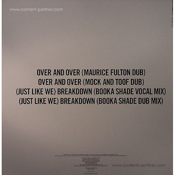 hot chip - over and over (booka shade mixes) (Back)