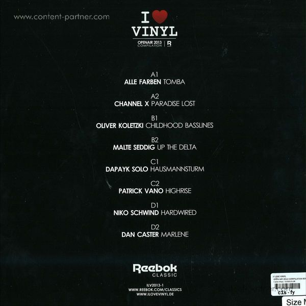 i love vinyl - open air 2013 box (incl. size s shirt) (Back)
