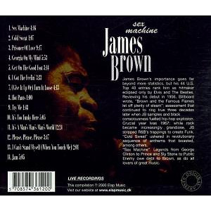 james brown - sex machine/live in concert (Back)