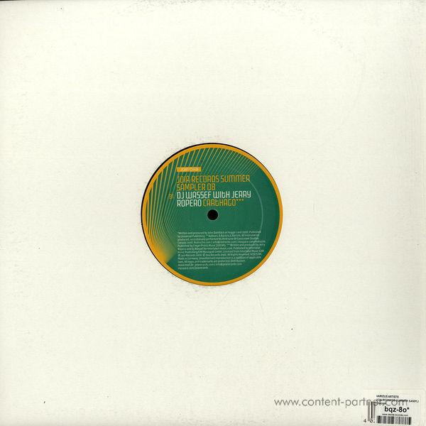 john dahlbäck, jerry ropero, dj wassef - joia records summer sampler REPRESSED (Back)