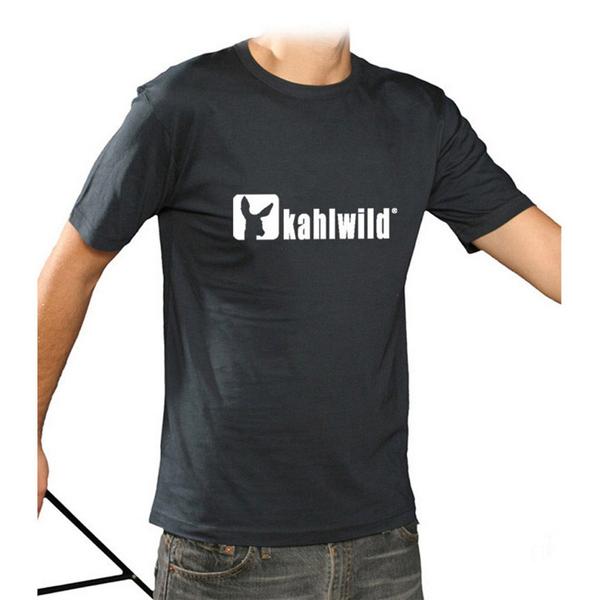 kahlwild t-shirt blau-weiss - logo-shirt xl