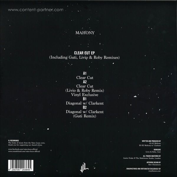mahony - clear cut ep (Back)