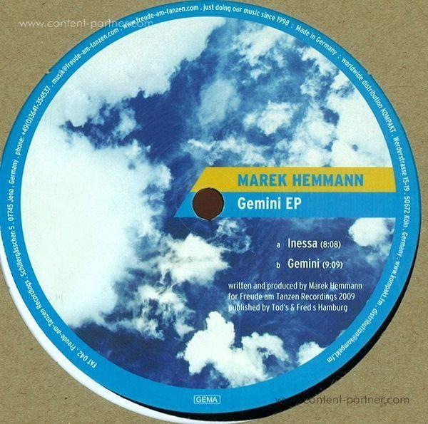 marek hemmann - Gemini Ep (Repress) (Back)