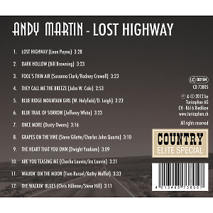 martin,andy - lost highway (Back)