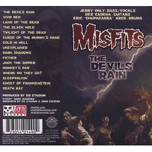 misfits - the devil's rain (Back)