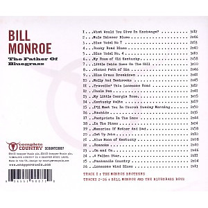 monroe,bill - the father of bluegrass (Back)
