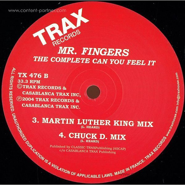 mr fingers - can you feel it (Back)