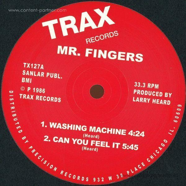 mr fingers - washing machine/can u feel (Back)
