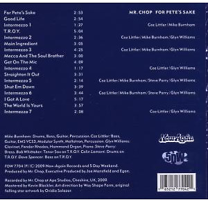 mr.chop - for pete's sake (pete rock tribute) (Back)