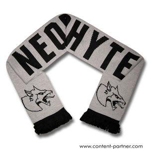 neophyte - wollschal, grau/schwarz