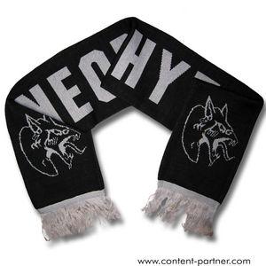 neophyte - wollschal, schwarz/hellgrau