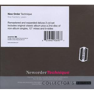 new order - technique (collector's edition) (Back)
