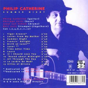 philip catherine - summer night (Back)
