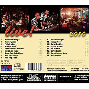 piano connection - boogie woogie & blues-live 2010 (Back)