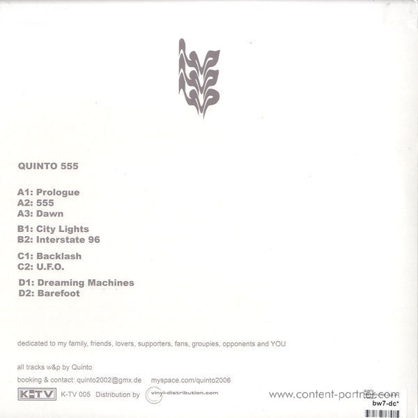 quinto - 555 (vinyl only) (Back)