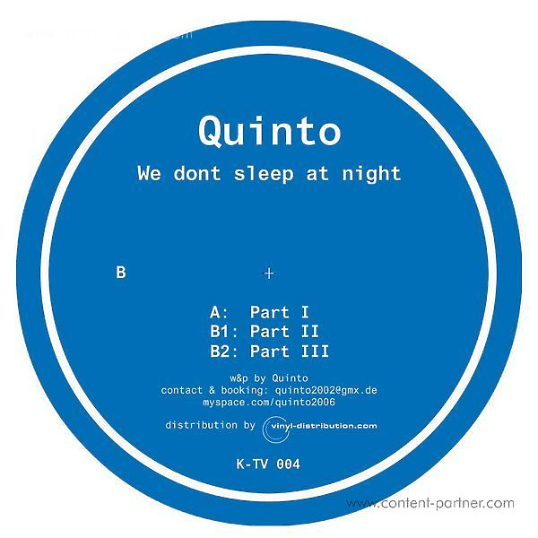 quinto - we dont sleep at night (vinyl only)