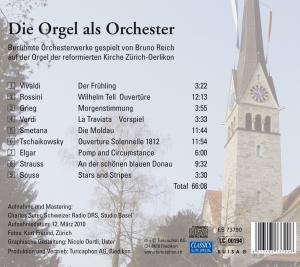reich,bruno - die orgel als orchester (Back)