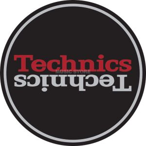 slipmats technics - black/red logo
