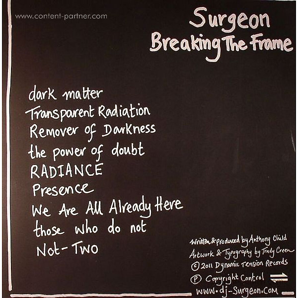 surgeon - breaking the frame, repress! (Back)