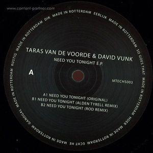 taras van de voorde and david vunk - need you tonight